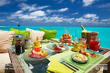 Breakfast in Blue, Maldives Islands