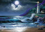 Moonlight Lighthouse Mural by Steve Sundram