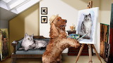 Dog Painting Cat