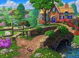 Cottage by the stile - Joseph Burgess