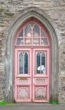 Pink door and window
