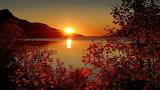 Automne-soleil couchant