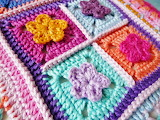Granny Square Pillow Close-up