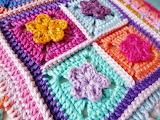 Granny Square Pillow Close-up
