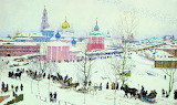Konstantin Yuon, Trinity Lavra in winter, 1910