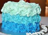 Swirly ombre cake @ DD's Bake Shop