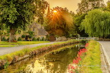 ^ Just after sunrise, Lower Slaughter, Cotswolds, England