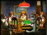 Dogs Playing Poker