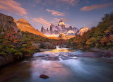 Argentina Mountains Nature River