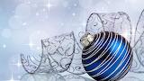 Blue & silver glitter ornament