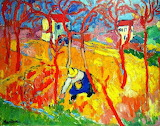 Colours-colorful-the gardener-by Maurice de Vlaminck