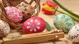 Easter - eggs - basket - tulip
