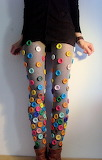 Colorful button tights