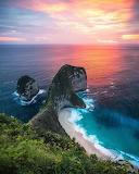 Sunset Kelingking Beach Nusa Penida