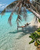 Tropical beach with crystal clear water