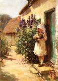 The Cottage Door ~ William Kay Blacklock