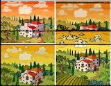 happy color 4 ways mosaic