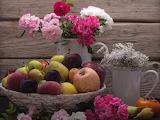Cesto di frutta e fiori 71