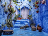 Traditional Moroccan patio in Chefchaouen