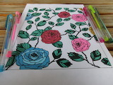 for kizzie4 roses colored by dankenstyne adult coloring book