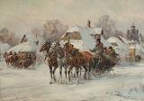 Władysław Chmieliński-Zimą na wsi