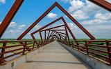 The High Trestle Trail Bridge in central Iowa