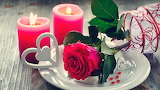 Roses - valentine's day - candles