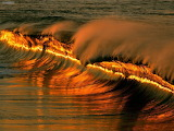 Golden Wave Sunset Mexico