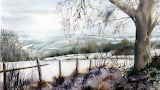 Winter Landscape Watercolor