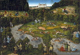 Lucas Cranach d.Ä. - Hofjagd bei Schloss Hartenfels