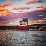 Mackinac Island Round Island Lighthouse by Sara Wright
