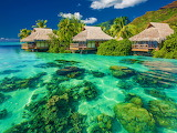☺♥ Pretty huts in a tropical paradise...