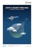 """Space ESA Poster """"Safety security from space"""" """"© ESA"""""""