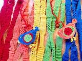 Rainbow yarn and chicks