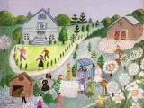 ^ Spring in the Village ~ Sheila-Burns