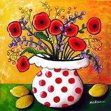 poppies in polka dots, Renie Britenbucher