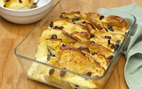 Hot, rich and crispy. Marmalade Bread and Butter Pudding