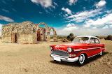 Vintage red car