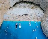Remains shipwreck Greek island of Zakynthos