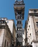 Santa Justa lift in Lisbon - Portugal