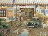 Mustang Creek Feed Store by Janet Kruskamp...