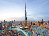 Burj Khalifa Dubai at dusk
