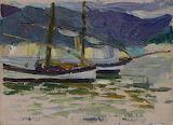 Fishing Boats, Sestri. Wassily Kandinski 1905