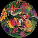 Laurel Burch Colorful Jungle