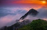 Landscape, mountains, sunrise, clouds, beauty, Korea, wallpaper