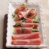 ^ Cooked country ham slices make for a perfect lunchtime bite