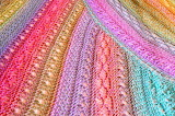 Pastel crocheted afghan