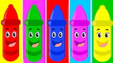 Colours colorful crayons-You Tube
