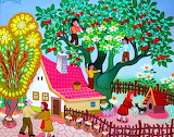 Image-fruit harvest-painting