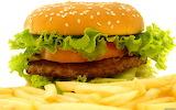 ^ Hamburger and French Fries